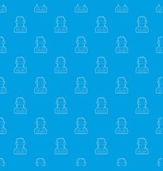 programmer pattern seamless blue vector image