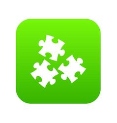 puzzle icon digital green vector image