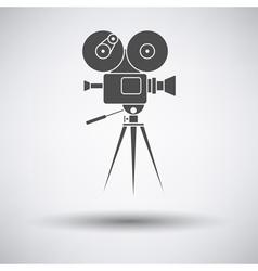 Retro cinema camera icon vector image