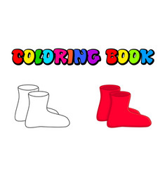 rubber boots outline cartoon simple gumboots vector image