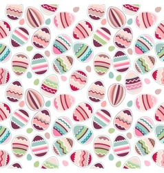 Seamless easter pattern made eggs vector image