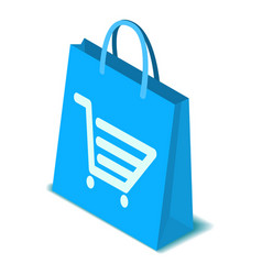Shopping bag icon isometric style vector