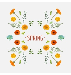 Spring - Floral Graphic Design - for t-shirt vector