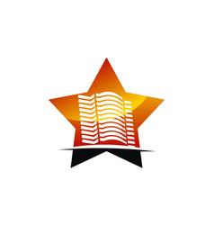 star hotel logo design template vector image