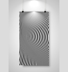 striped banner display with clip hanging on wall vector image