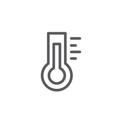 thermometer line icon on white background vector image