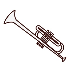 Trumpet music icon image vector