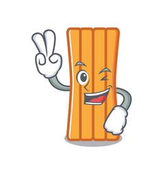 Two finger air mattress character cartoon vector