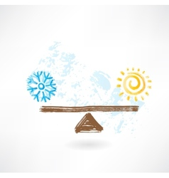 warm cold balance vector image
