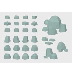 Cube World Rocks vector image
