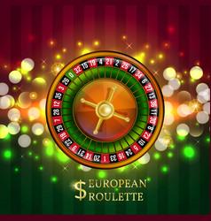 gambling european roulette banner vector image vector image