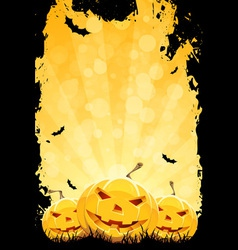 Grungy Halloween Party Background vector image