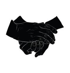 Hand shake icon vector