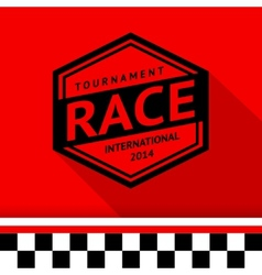 Racing stamp-13 vector image vector image
