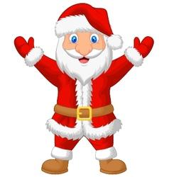 Santa cartoon waving vector image