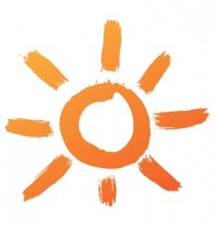 sun symbol vector image vector image