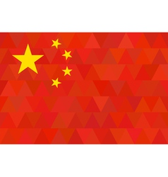 China Flag Original proportion and colors vector image