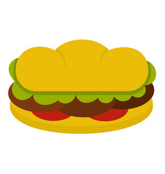 sandwich with meat patties icon isolated vector image