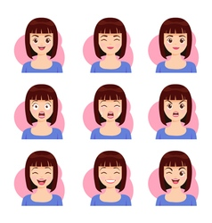 woman shot hair face emotion vector image