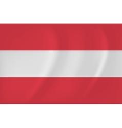 Austria waving flag vector image vector image