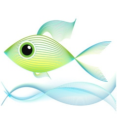 Blend art Fish vector image