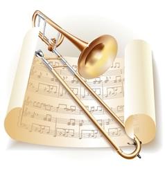 Classical trombone vector image vector image