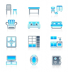 home furniture marine series vector image vector image