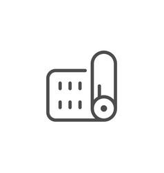 Mat line icon vector