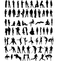 People sillhouettes vector image