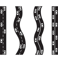 Cars on roads vector image