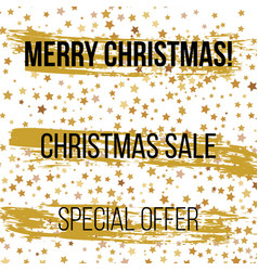 christmas sale background with stars vector image