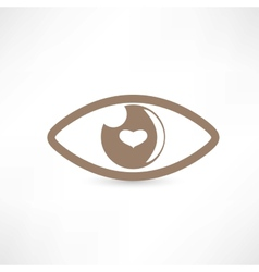 Eye abstract icon vector image vector image