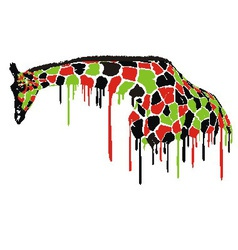Giraffe abstract painting vector image vector image