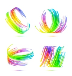 Rainbow colors abstract backgrounds set vector image vector image