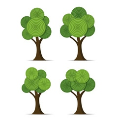 stylized abstract trees vector image vector image