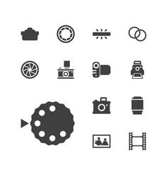 13 photo icons vector
