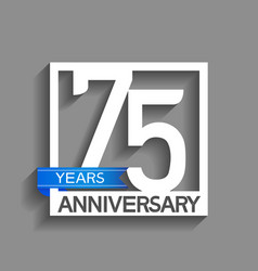 75 years anniversary logotype with white color vector