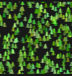 Abstract random pine tree pattern background vector