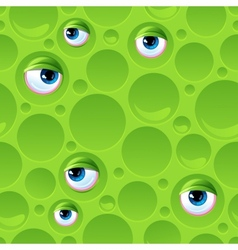 Abstract seamless pattern with bubbles and eyes vector