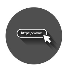 address and navigation bar icon with long shadow vector image