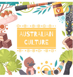 Australia cartoon frame vector
