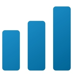 Bar Chart Increase Gradient Icon vector image