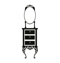 Baroque style dressing table vector
