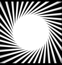 black and white radial - radiating lines circular vector image
