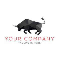 black bull logo vector image
