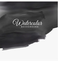 black watercolor texture with text space vector image