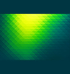 bright yellow green rows of triangles background vector image