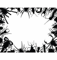 bug frame vector image