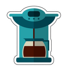 Cartoon coffee maker pot machine vector