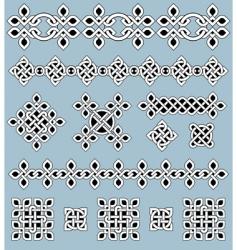 Celtic ornaments set vector